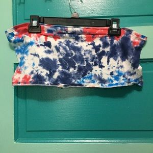 Red, white, & blue tube top